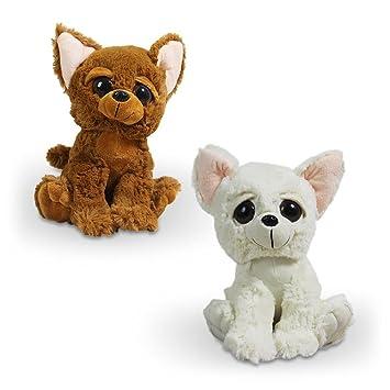 8 x Chihuahua Percy plástico de peluche Peluche con ojos grandes 50 cm