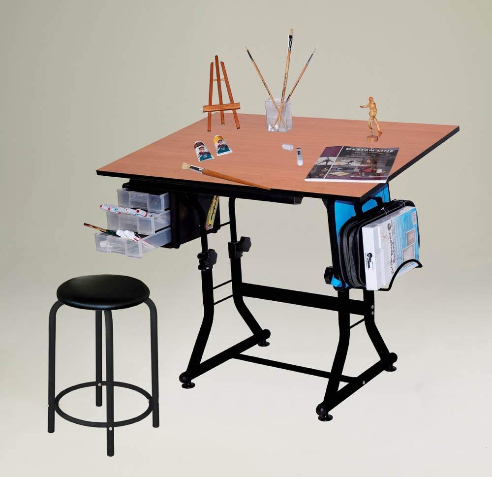 Martin Universal Design Ashley Hobby Stool Art Table, black