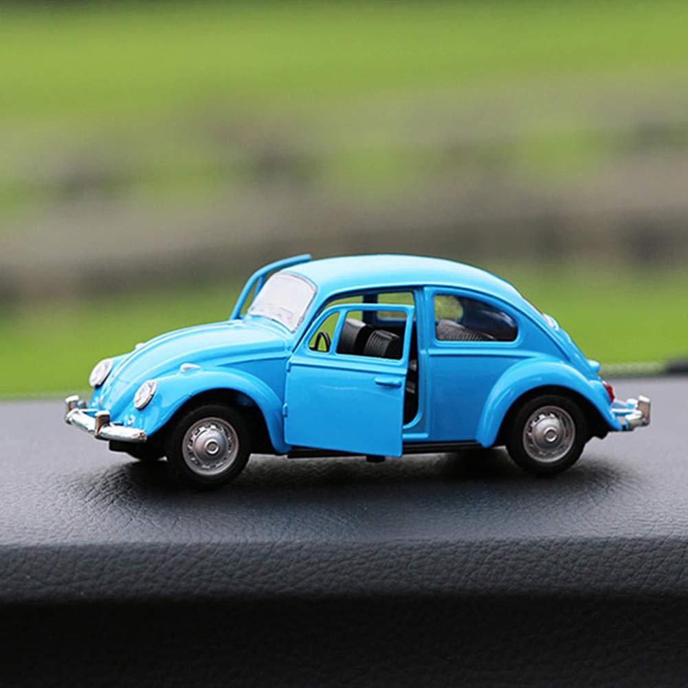 Escala de la Vendimia Escarabajo cl/ásico 1//32 Diecast Metal Tire hacia atr/ás con el Sonido y la luz del Coche de Juguete de Modelo para el Regalo//ni/ños Rojo