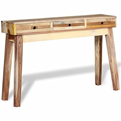 Superieur Festnight Vintage Console Table With 3 Drawers Solid Reclaimed Wood  47.2u0026quot; X 11.8u0026quot; ...