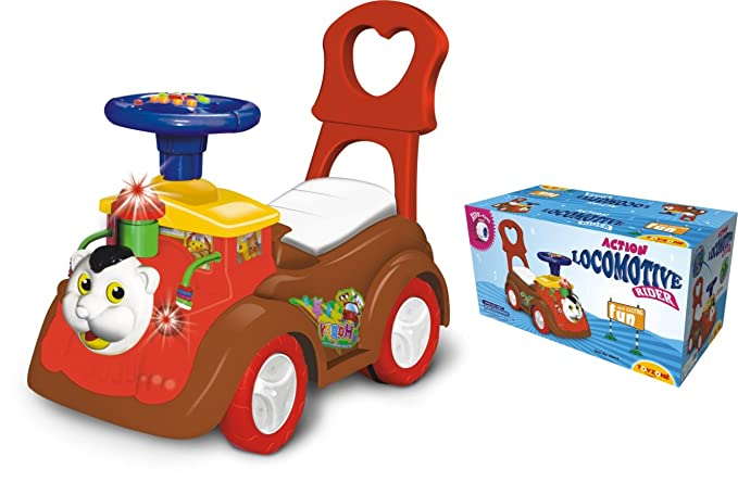 Toyzone Locomotive Rider Action, Red Toy Cars & Trucks at amazon