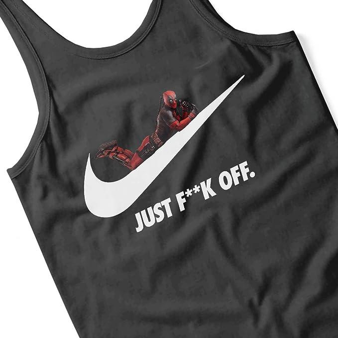 Coto7 Deadpool Just Fuck Off Nike Logo Women's Vest: Amazon.fr: Vêtements  et accessoires