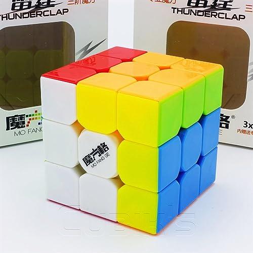 Qiyi MoFanGe QiYi *THUNDERCLAP* V1-3x3 Professional & Competition Speed Cube Magic Cube Brain Game 3D Puzzle - STICKERLESS
