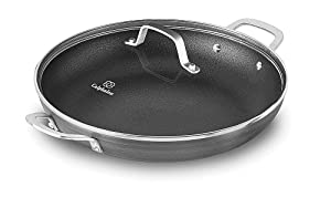 "Calphalon 1932337 Classic Nonstick Everyday Chef Pan with Cover, 12"", Grey"