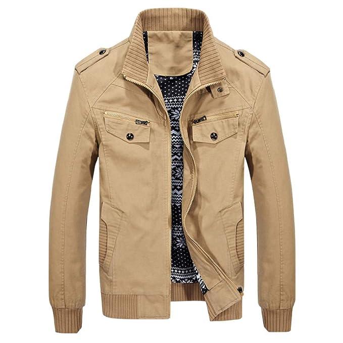 YOUTHUP Chaqueta de Hombre Regular Fit Casual Biker Coat ...