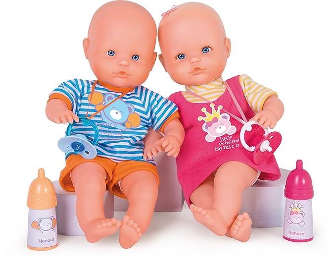 Nenuco 700008182 - Muñecos Gemelos con chupetes y biberones