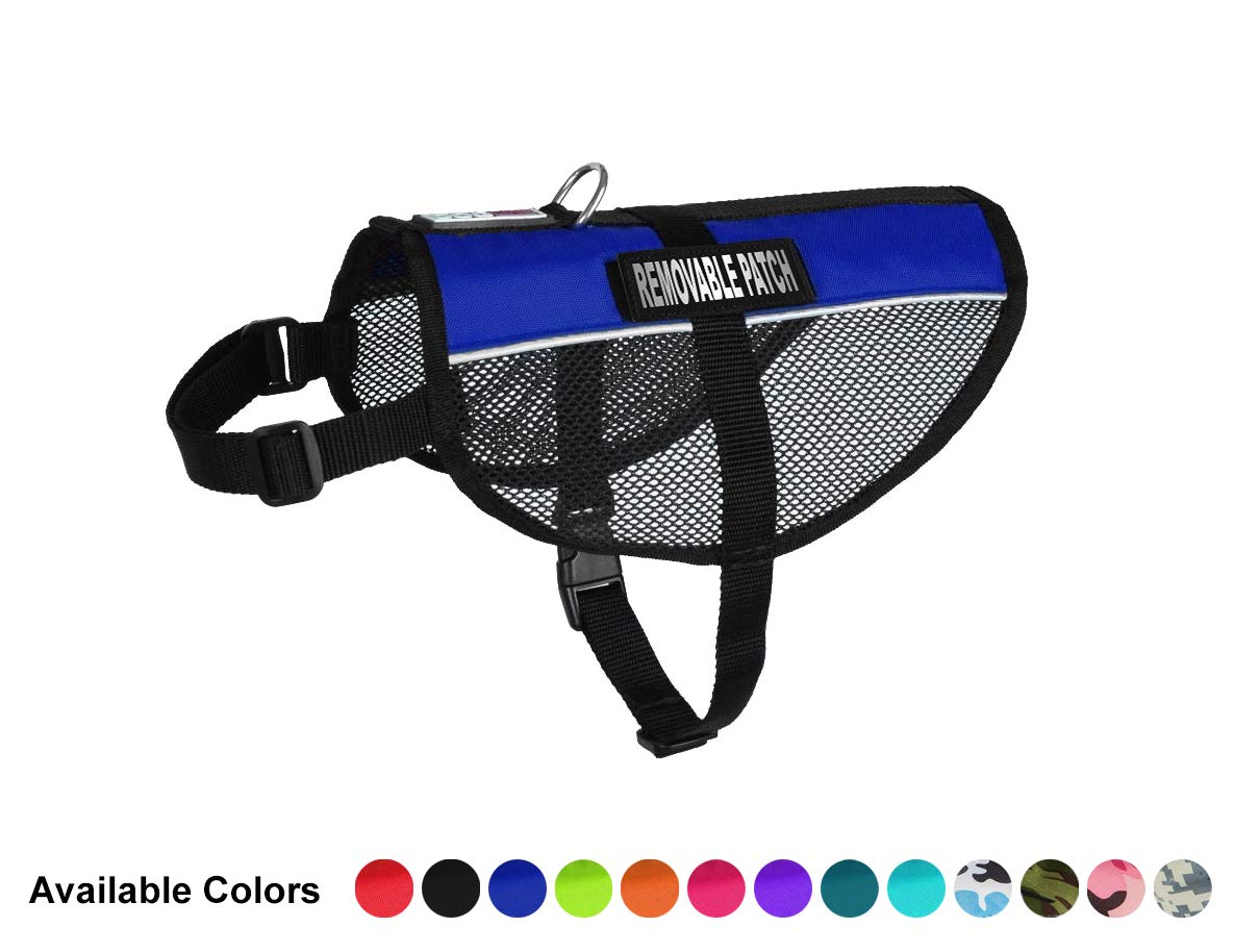 MaxAire Small bluee Mesh Vest for Service Dogs