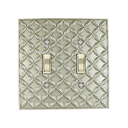 Meriville Colfax 2 Toggle Wallplate, Double Switch Electrical Cover Plate, Pewter by Meriville (Image #1)