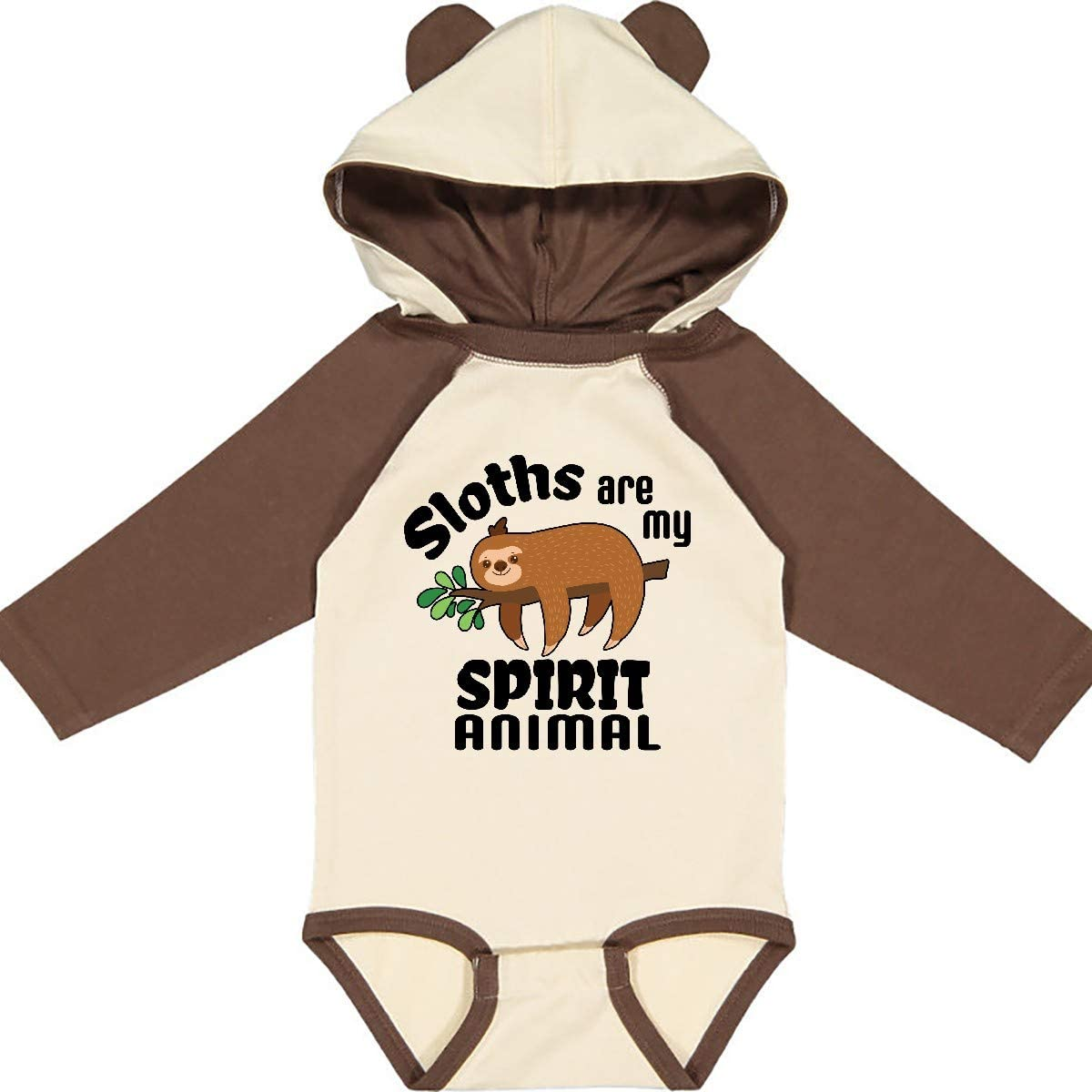 inktastic Sloths are My Spirit Animal with Cute Sloth Long Sleeve Creeper