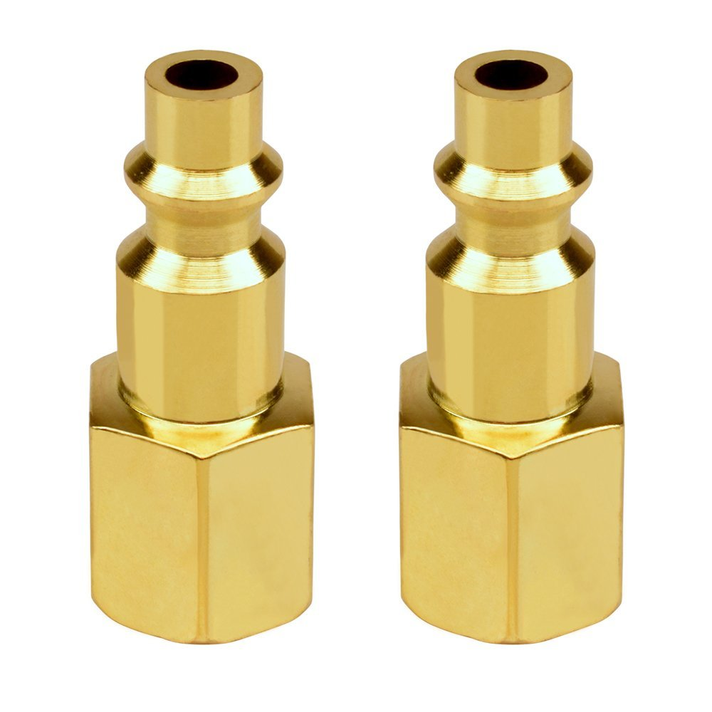 Air Coupler and Plug Kit 1/4 NPT Air Fittings Astarye 12 Pieces Industrial Type D Quick Connect Set