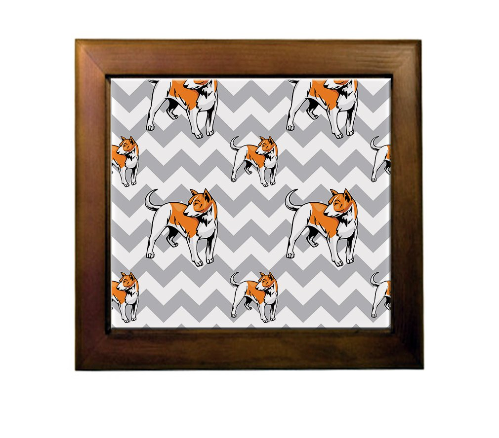 85%OFF Telomian Dog Gray Zigzag Ceramic Tile Backsplash Accent Mural