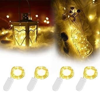 4 Pack LED Lichterkette Mit Batterie | InnooLight 2m 20er Wasserdichte  Warmweiße Batteriebetriebene Lichterketten, Als