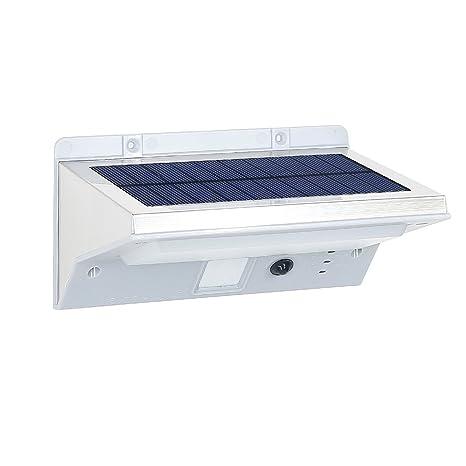 Lumisky Derby W11 Proyector aplica foco Solar 21 LED exterior impermeable luz con detector de movimiento