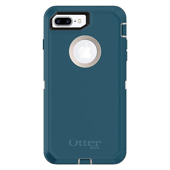 best website 39c0a f63ca OtterBox DEFENDER SERIES Case for iPhone 7 Plus & iPhone 8 Plus - BIG SUR  (PALE BEIGE/CORSAIR) - Bulk Packaging (Case Only)