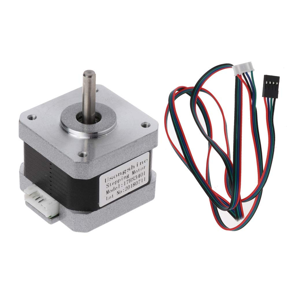 JENOR 17HS3401 4-Channel Nema 17 Stepper Motor Clamp Filament Cable Screw 42 Motor 42BYGH 1.3A CNC Laser 3D Printer