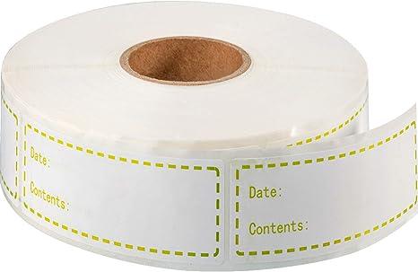 500 etiquetas para congelador de alimentos 1 x 3 pulgadas ...