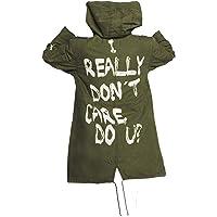 Aus Eshop Womens Melania Trump I Really Don't Care Do U Jacket Olive Green Cargo Cotton Coat
