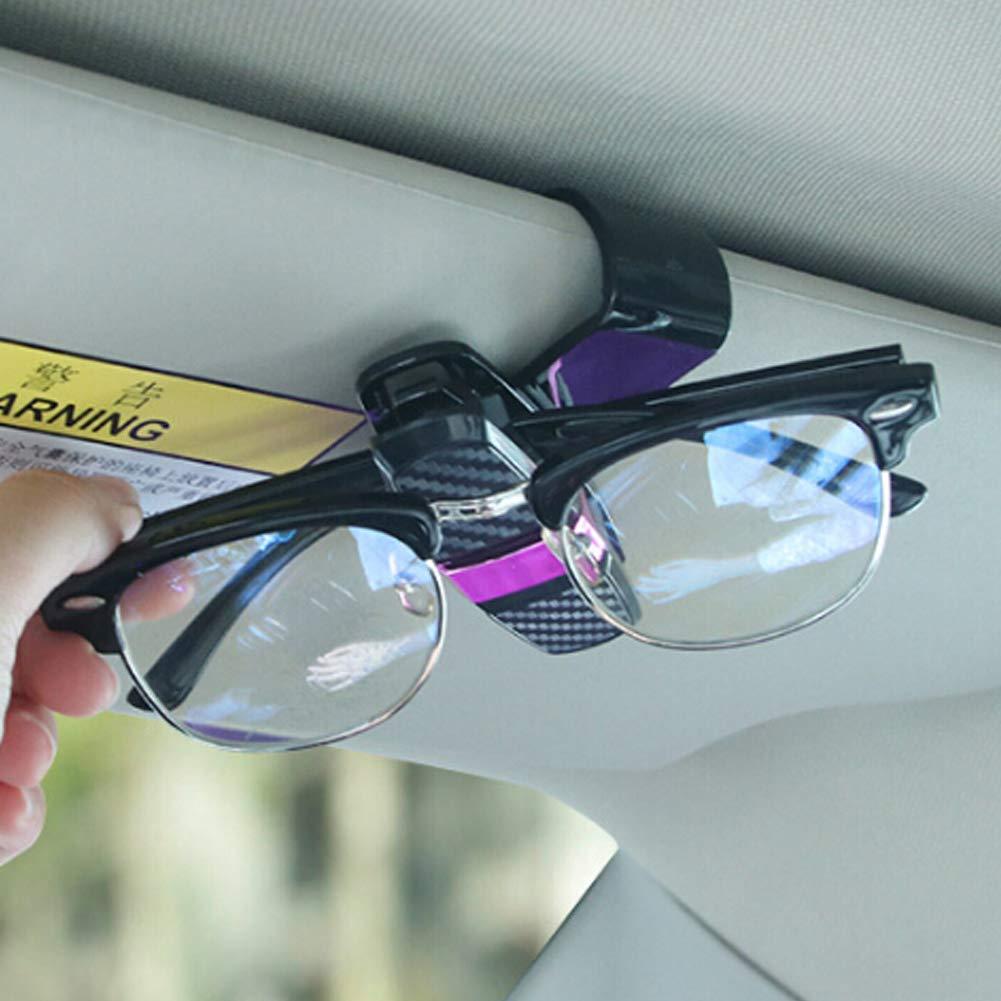 RENNICOCO 1pcs Glasses Holders for Car Sun Visor Sunglasses Eyeglasses Mount with Ticket Card Clip