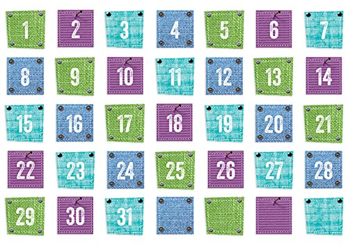 Denim Calendar Chart - Creative Teaching Press Upcycle Style Calendar Days (6898)