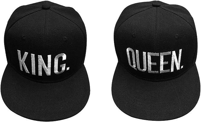 King & Queen Gorra de Béisbol, 2 Piezas Gorra Ajustable Gorra de ...