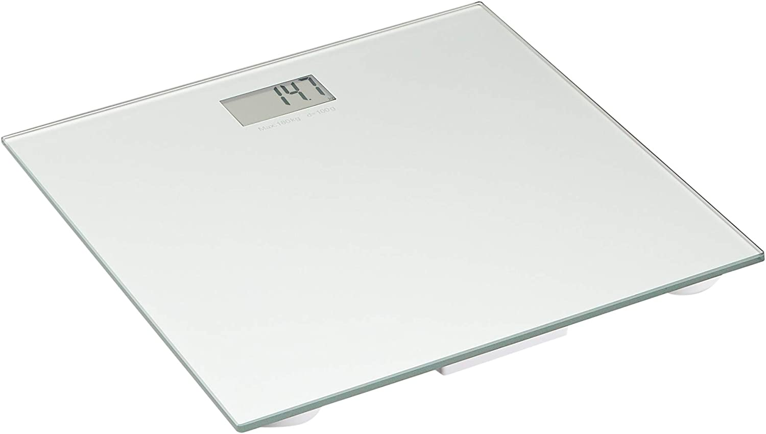 AmazonBasics Body Weight Scale - Auto On/Off Function with Backlight, Silver