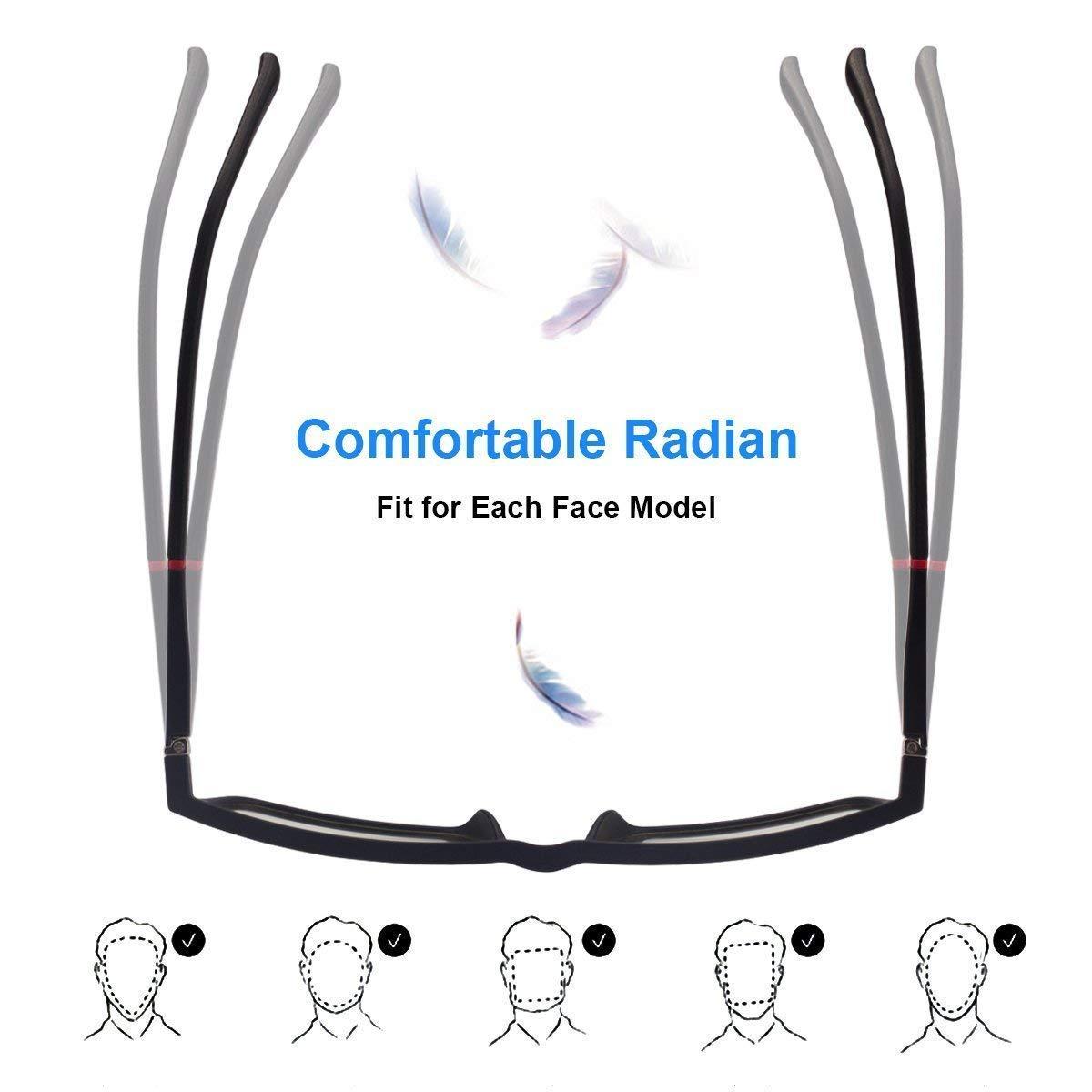 Anti Blue Light Lenses for Men /& Women Premium Gamer /& Computer /& Reading Eye-wear RayLove Blue Light Blocking Glasses,Computer Glasses Anti Glare Relieve Eyes Fatigue Black