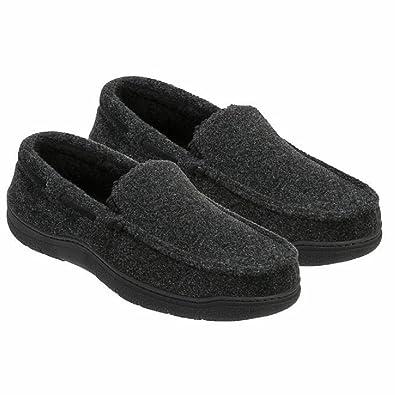 Amazon.com   Dearfoams Men\'s Memory Foam Slippers   Slippers