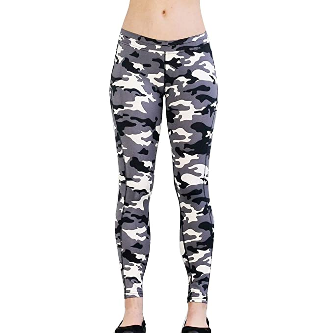Pantalones Largo para Mujer, Moda Slim Fit Skinny Pantalon Camuflaje Cómodo Cintura Elástica Casual Pantalones