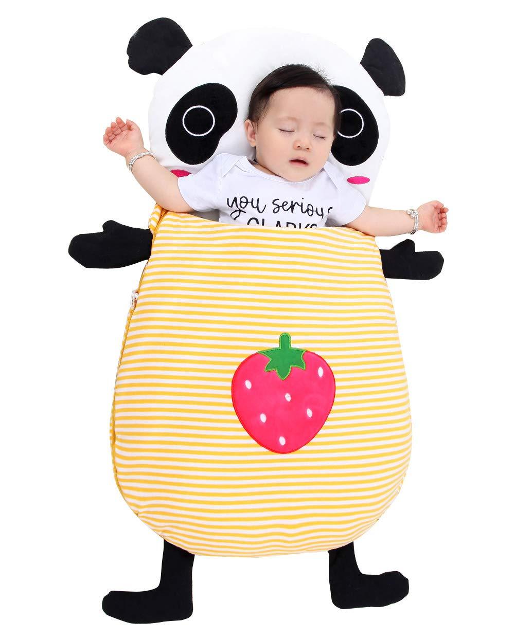 Toddler Baby 3 in 1 Blanket Snap Mat Cute Crab Sleeping Bag Nursery Swaddle Wrap for 0-12 Months YANYINGBEIER