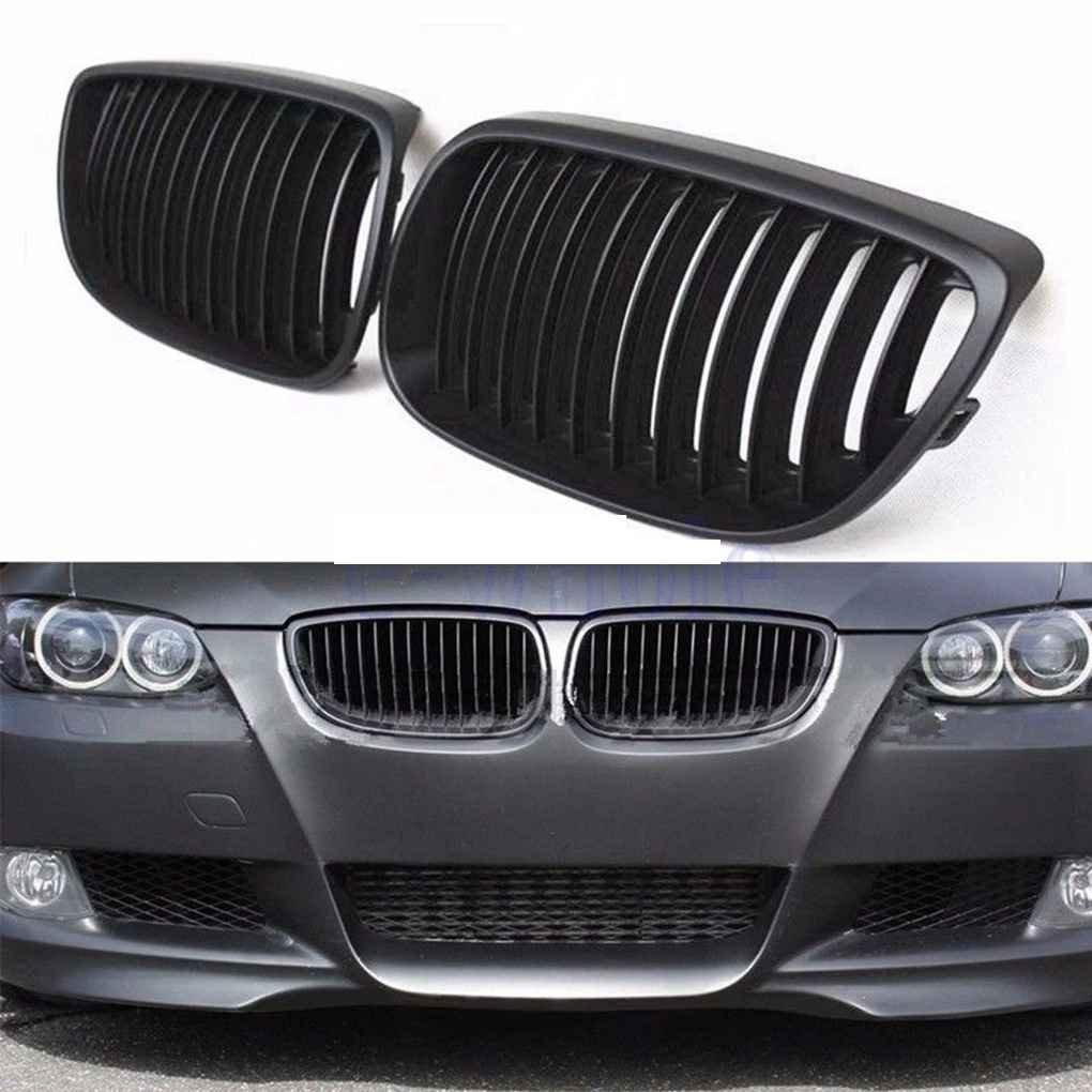 Bomcomi Rejillas de ri/ñ/ón Frente Mate Negro Parrilla para BMWgrille para Rejilla para BMW E92 E93 Serie 3 2006 a 2009