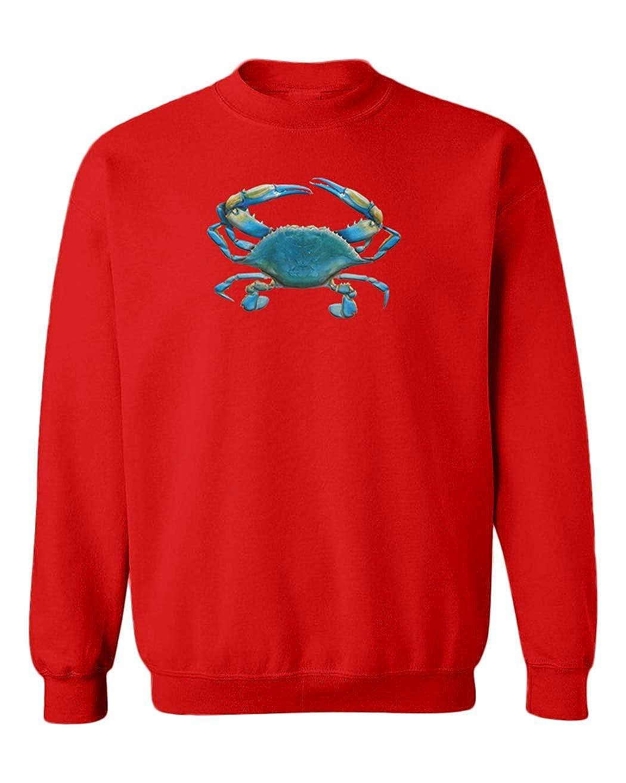 Blue Crab 3D Cool Beach Ocean Youth Fleece Crewneck Sweater