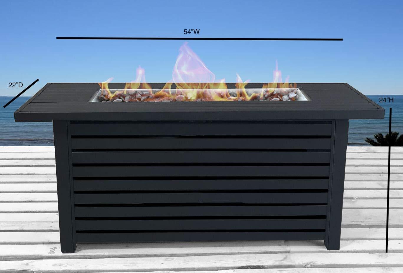 Amazon.com: Century Moderna mesa rectangular de acero con ...