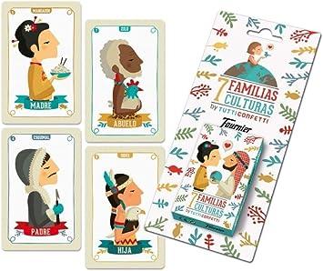 Tutti Confetti Familias De 7 Países Baraja De Cartas Educativa Infantil Naipes Heraclio Fournier 1034797 Amazon Es Juguetes Y Juegos