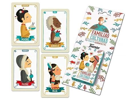 Tutti Confetti Familias De 7 Países Baraja de Cartas Educativa Infantil (Naipes Heraclio Fournier 1034797)