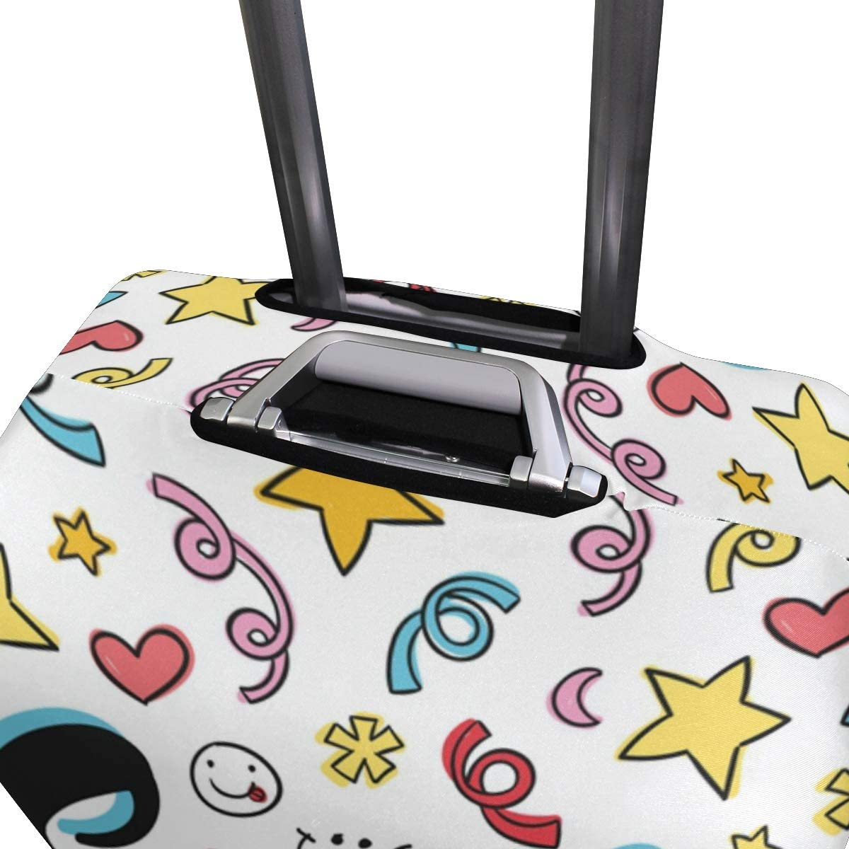 FOLPPLY Funny Emoji Emoticon Smile Luggage Cover Baggage Suitcase Travel Protector Fit for 18-32 Inch