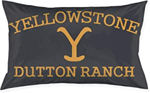Yellowstone Dutton Ranch Graphic Home Decor Pillowcase Soft Plush Fabric Pillow Cushion Chair Cushion for Living Room Bedroom 20 X 30 Inch