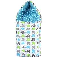 Bacati Elephant Aqua Lime Grey Reversible Baby Sleeping Bag