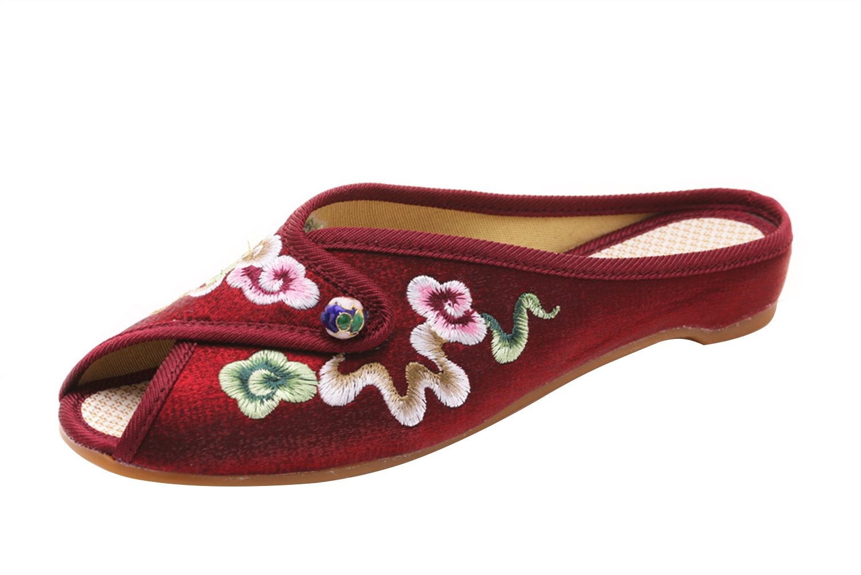 Insun Pantoufles Femme Espadrilles Fait B01AUQVW7I Vin Main Broderie Fleurs Bout Ouvert Pantoufles Vin Rouge d94760f - piero.space