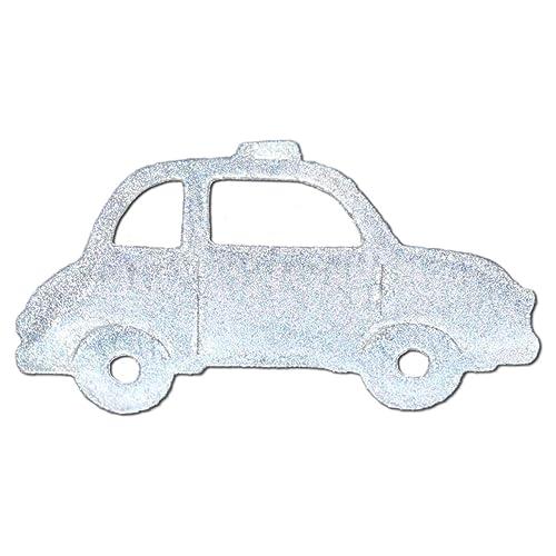 Réflecteur autocollant petit voiture, Etoiles htauf Colle pour cartable, casque vélo, etc.