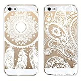 Changeshopping for iPhone 5 5S 2PC Henna Floral Paisley Flower Mandala Hard Case Cover Skin