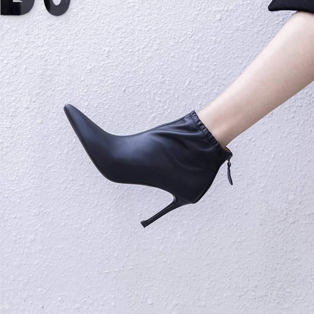 0f768a85f133f9 y-h y-h y-h des chaussures bottes de cuir printemps / automne bottine de  talon aiguille les chaussons / bottines / mesdames personnalité élégante ...