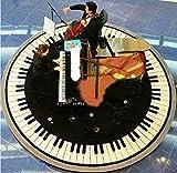 Judy Dre am Round Piano Mat Music Piano Rugs Black and White Piano Carpet Living Room Morden Rug (120cmX120cm)