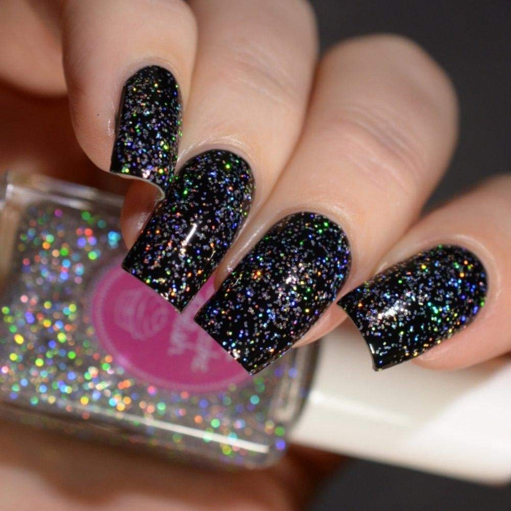 Amazon.com: Sprinkles - silver holographic glitter topcoat nail ...