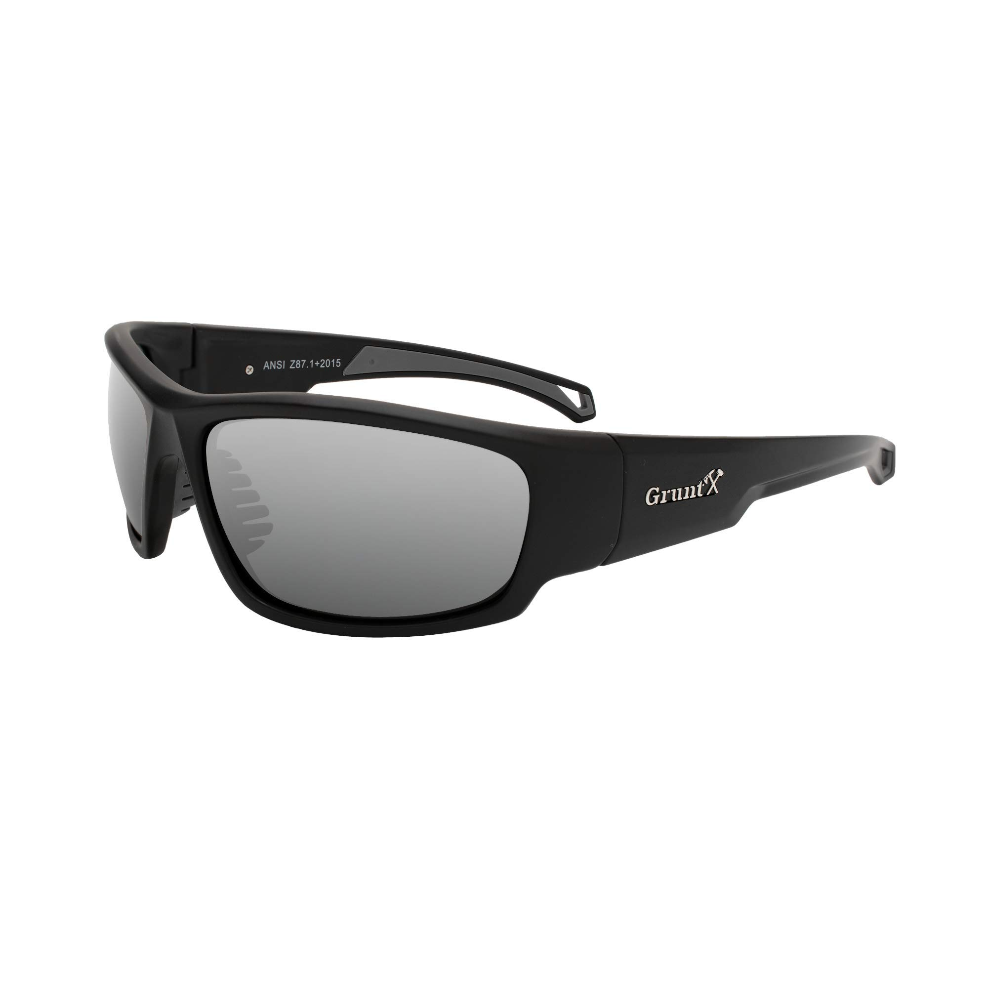 GruntX Ballistic Safety Sunglasses for Men - Polarized - Meets ANSI z87.1+ - Anti Scratch and UV Protection - Perfect for: Shooting, Construction, and Outdoor Sports by GruntX