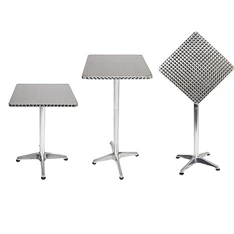 Mojawo® - Mesa alta de bar, mesa de terraza, aluminio, 60 x ...