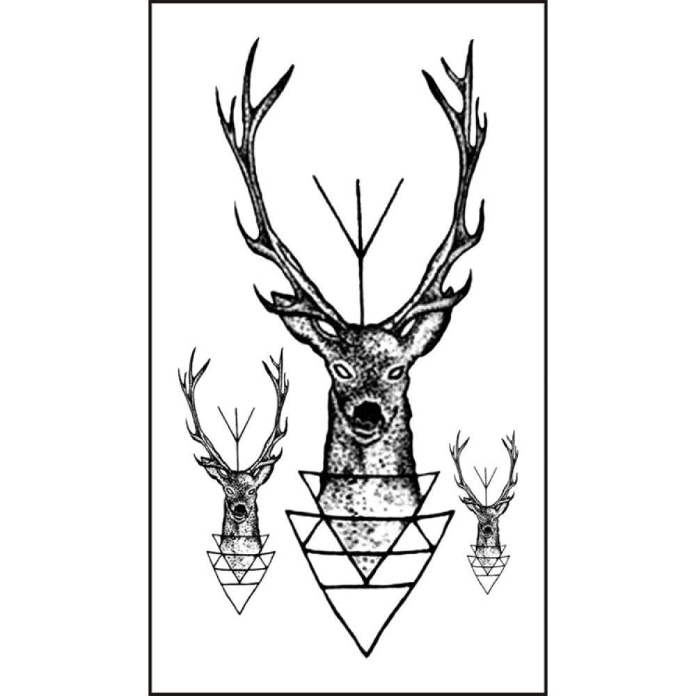 CLLCR Tatuaje Temporal - Etiqueta Engomada del Tatuaje del Alce ...