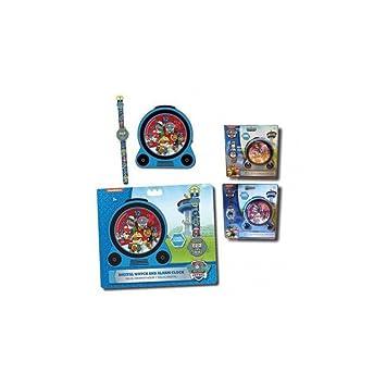 Set regalo, reloj de pulsera y despertador con musica y luz de Paw Patrol La Patrulla Canina: Amazon.es: Juguetes y juegos