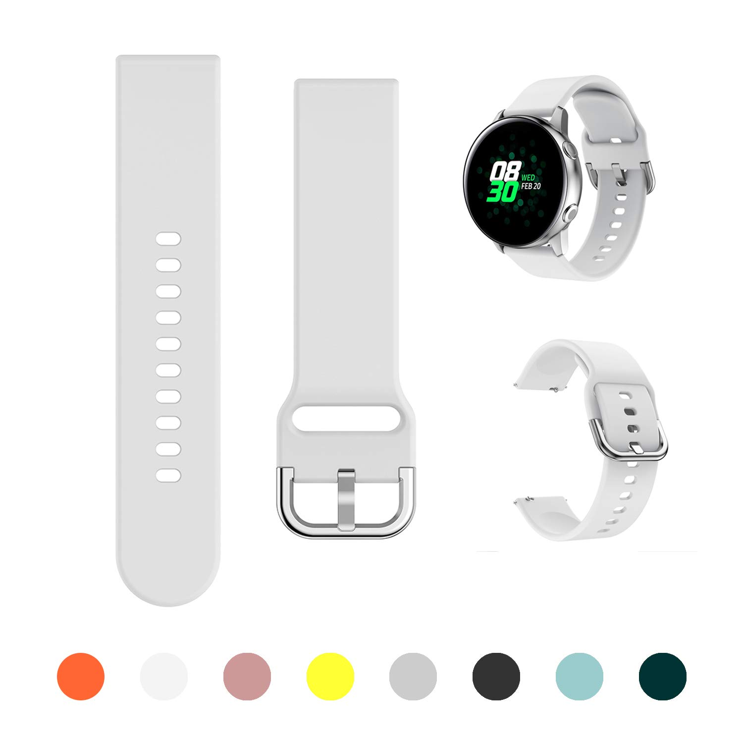 Malla Para Galaxy Watch Active/active2 40mm/44mm Blanco