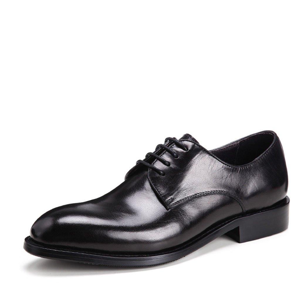HHY-Trajes de vestir Cuero primera capa de cuero Mens zapatos de cuero,negro,39 39|black black