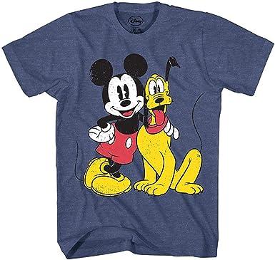 Disney Camiseta para Hombre Mickey Mouse Pato Donald Pluto